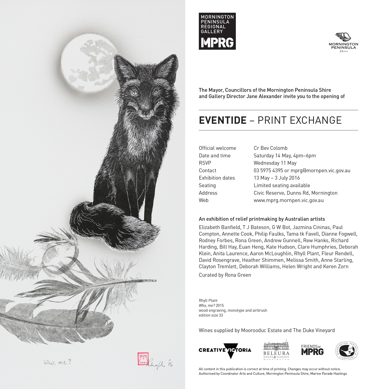 Eventide exhibition invitation